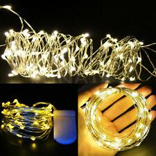 20//30//40 LED Lichterkette Draht Lichterkette Leuchtdraht Batterie Weihnachten 3V