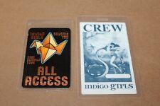 Indigo Girls  - 2 x Laminated Backstage Pass - All Access -  FREE POSTAGE