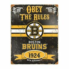 Boston Bruins NHL Embossed Metal Vintage Pub Sign Man Cave Wall Decor