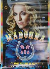 Madonna Music Promo Poster Warner New 39x27 Cowgirl Outfit