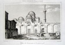 Istanbul Pantokratorkloster Byzanz original Stich 1860 Türkei Zeyrek-Moschee