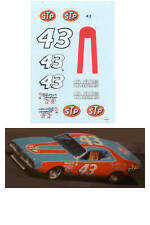 Richard Petty #43 STP Charger 1/64 scale decal AFX Tyco Lifelike Autoworld