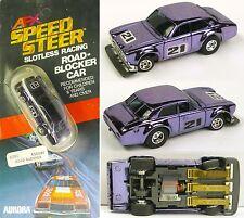 1979 Aurora AFX SpeedSteer TCR Slotless Ford Escort Violet Chrome! 6291 A+ Card!