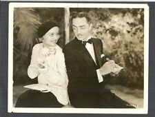 CAROLE LOMBARD + WILLIAM POWELL HAVE TEA FOR TWO ON WARNER STUDIOS SET
