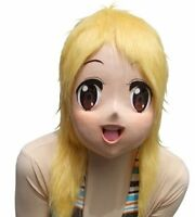 Rubber Anime Girl Maririn Mask costume Party items Halloween Cosplay Costume JP