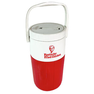 Vintage KFC Kentucky Fried Chicken Red and White Drink Cooler by Coleman