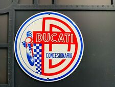 Retro Ducati Concesionario Italy Enamel Metal Garage Shop Wall Plaque Sign Tile
