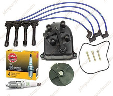 NGK BLUE TUNE-UP KIT W/ CAP ROTOR SPARK PLUGS WIRE SET fits ACURA INTEGRA B18C1