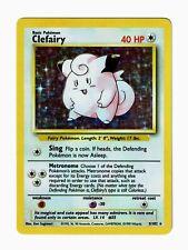 1999 Pokemon Base Unlimited Clefairy Holo #5/102 – LP