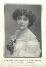1904 Miss Margaret Thomas Young Singer Of Exceptional Promise