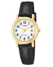 Lorus RH764AX9 Ladies Black Leather Strap Date Watch Auth UK Stockist