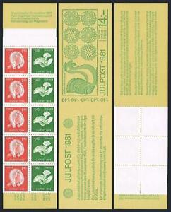Sweden 1390-1391a booklet,MNH.Michel MH 85. Christmas 1981,Wooden birds