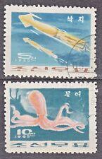 KOREA 1965 used SC#646/47  set, Mollusks.