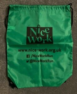 Nice Work Drawstring backpack Gym PE BAG