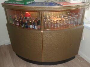 vintage retro curved cocktail bar/cabinet  1960?