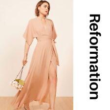 REFORMATION Winslow Dress in Blush Size Large Women's Size Large Maxi Wrap dress