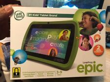 """bBRAND NEW IN BOX LeapFrog Epic 7"""" Android-based Kids Tablet 16GB, Green"""