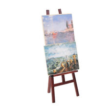Artist Easel with 2 Paintings Pictures Port /& Seascape for 1:12 Dollhouse