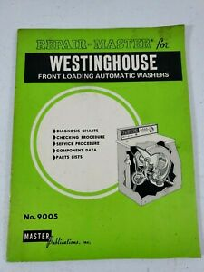 Vintage 1982 Westinghouse Front Loading Automatic Washer Service Repair Manual