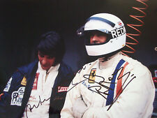 MERZARIO & Redman firmato 12x8, FERRARI SPORT PROTOTIPI ritratto, MONZA 1000kms 1972