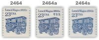 2464 2464a 2464as Lunch Wagon 23c Variety Set of 3 Transportation MNH - Buy Now