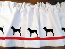 Black and Tan Coonhound Dog Window Valance or Shower Curtain color choices