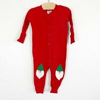 Hanna Andersson Infant Baby Sleeper One Piece Pajamas Holiday Christmas 60 6-9 M