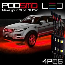 LED Under Car Rock Lights Underbody RED Neon Accent Glow Kit for Ford Explorer