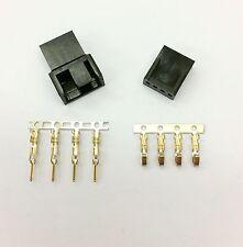 MASCHIO & FEMMINA 4 PIN PC FAN LED connettori di alimentazione - 1 di ogni-Nero Inc PIN