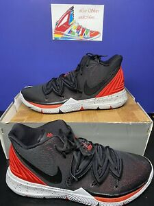 RARE!! Nike Kyrie 5 Bred AO2918-600 Black/Red Mens Basketball Shoes Size 18
