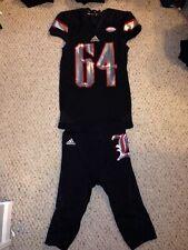 Louisville Cardinals #64 Gabe Ahner Blackout Football Game Uniform 9/17/15