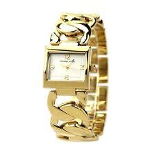 Michael Kors Uhr MK3024 Damen Edelstahl Gold Armbanduhr Rechteck Quarz NEU