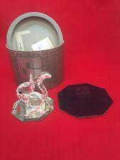 """Swarovski Silver Crystal Squirrel w/ Nut 7662 NR 042 000 1.75"""" BOX & MIRROR  COA"""