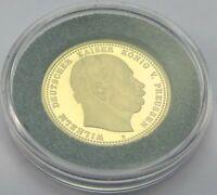 10 Mark Goldmünze Wilhelm Deutscher Kaiser König v Preussen Deutsches Reich Gold