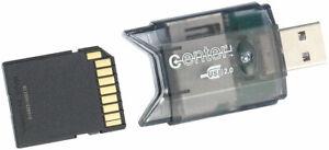 SD Kartenleser: USB-2.0-Cardreader & USB-Stick, für SD(HC/XC)-Karten