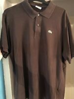Lacoste Mens Brown Cotton Polo Shirt Size Extra Large XL (6)