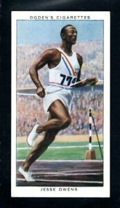 SUPERB OGDENS CHAMPIONS 1936 AMERICAN JESSIE OWENS OLYMPIC CHAMPION ROOKIE CARD