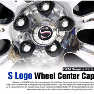 OEM Genuine Parts S Logo Wheel Center Hub Emblem Caps Cover for HYUNDAI Car