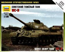 1/100 IS-3 Soviet Heavy Tank 15mm Flames Of War Zvezda Arab Israeli