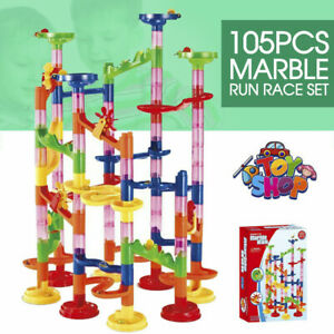 Marble 105Pcs Run Race Construction Maze Ball Track DIY Building Block Kids Toy