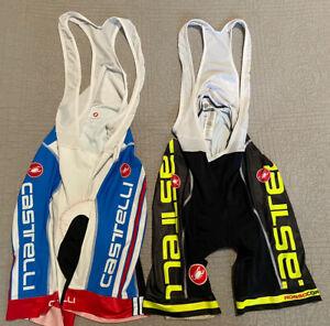 LOT OF 2 CASTELLI Cycling Bib Shorts PROGETTO X2 Pad Rosso Corsa Size XXL EUC!