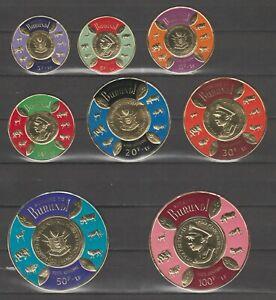 s37326 BURUNDI 1965 MNH** Golden Circular Stamps 8v Y&T 146/153