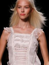 ISABEL MARANT White ruffled light embroidered Quidor top FR 38 UK 6- 8 £430 BNWT