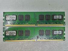 2GB 2x1GB Kingston PC2-5300 DDR2-667 240-Pin Desktop Memory RAM #1630