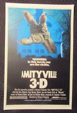"AMITYVILLE 3-D 11x17"" Mini Movie Poster VF 8.0 Tony Roberts / Tess Harper"