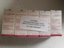 10 x Clarins Gentle Foaming Cleanser with Cottonseed Normal/Combination 5ml each