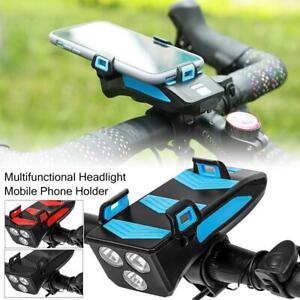 4-in-1 Bicycle Headlight Mobile Phone Holder Charger Waterproof Speaker Portable