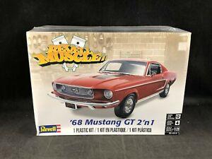 Revell 1968 Mustang GT 1:25 Scale Plastic Model Kit 85-4215 NIB