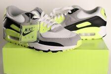 2020 Nike Air Max 90 OG Volt WHITE/PARTICLE GREY-BLACK CD0881-103 Men Sz 9, 9.5
