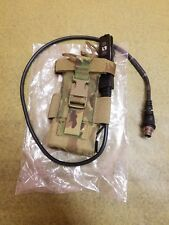 Multicam Radio Pouch with Battery Dock / Data Cable for Harris PRC-152 / 152A
